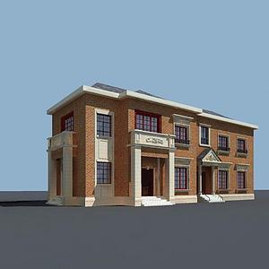 洋房模型3d模型