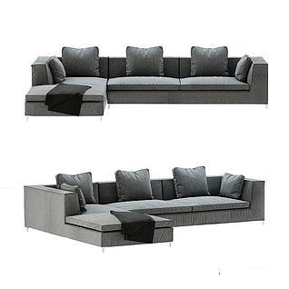 现代组合沙发3d模型