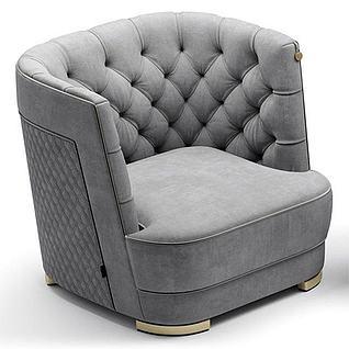 现代沙发凳3d模型