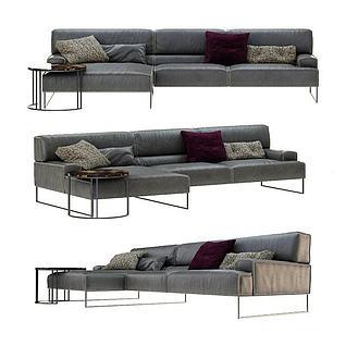 现代真皮沙发3d模型
