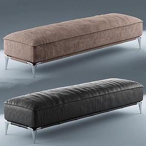 现代沙发凳模型