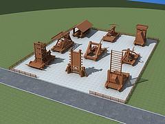 古代攻城器械模型3d模型