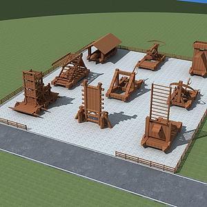 古代攻城器械模型