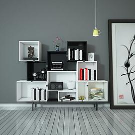 3d书柜模型