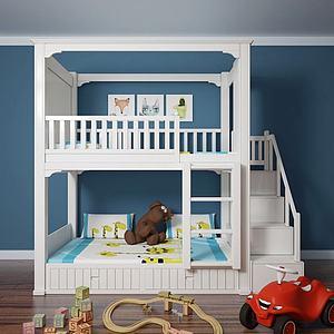 3d儿童床模型