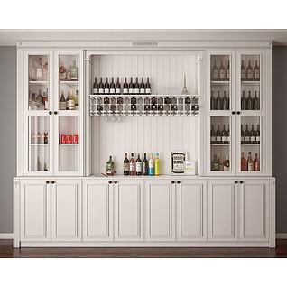 酒柜3d模型