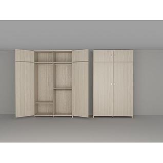 北欧衣柜3d模型