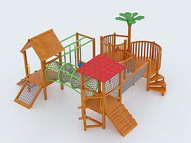 儿童木制滑梯3D模型