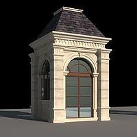 门卫房小岗亭3d模型