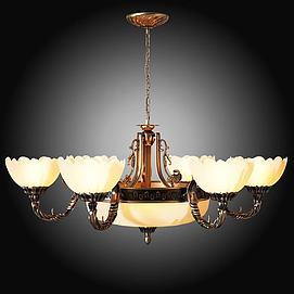 欧式古典吊灯3D模型