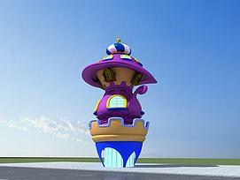蘑菇小城堡3D模型