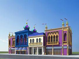 儿童乐园商业街3D模型