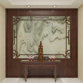 玄关背景墙3D模型