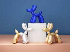 氣球狗3D模型