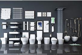 卫生间卫浴摆件模型