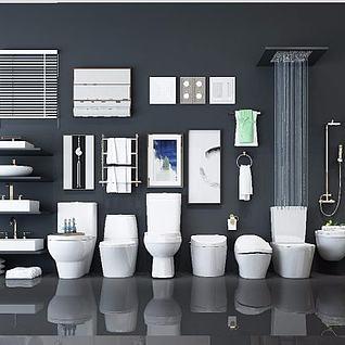 卫生间卫浴摆件3d模型