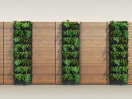 现代植物墙模型