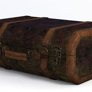 美式復古行李箱3d模型