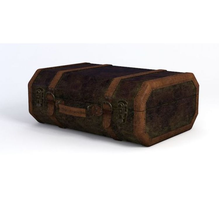美式复古行李箱模型