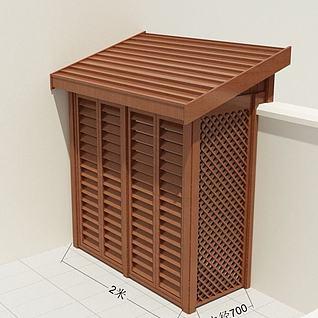 空调外机机箱3d模型