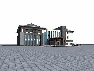 村办公楼3d模型