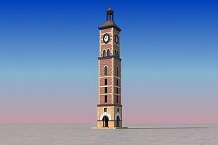 钟塔3d模型