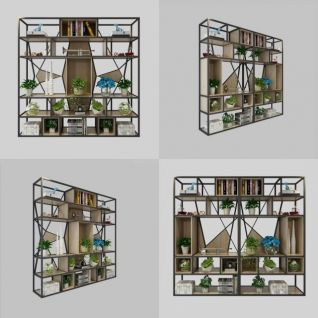 工业风置物架3d模型