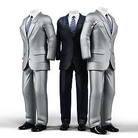 男士西服模型