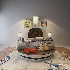 地中海儿童床模型
