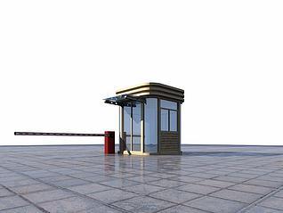 保安室3d模型