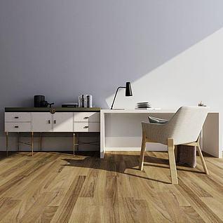 装饰柜书桌组合3d模型