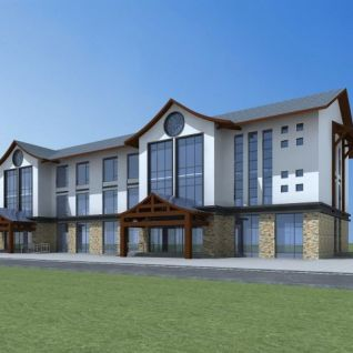 新中式综合楼3d模型