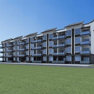 新中式住宅3d模型