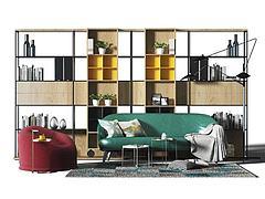 现代沙发茶几组合模型3d模型