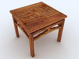 将棋桌模型