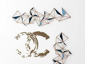 现代金属墙饰挂件模型