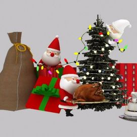 圣诞小彩灯模型