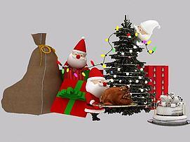 3d圣诞小彩灯模型