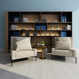 休闲椅组合模型