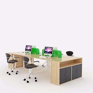 3d现代简约<font class='myIsRed'>办公桌</font>模型