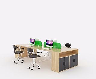 现代简约办公桌3d模型