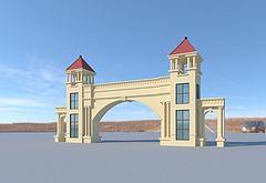 大门模型3d模型