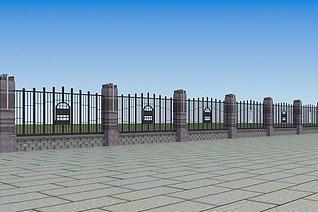 围墙3d模型