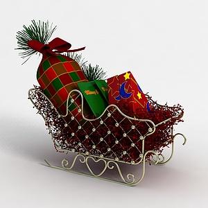 圣誕車3d模型
