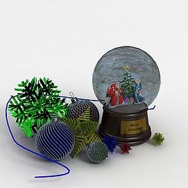 3d圣诞节玩具模型