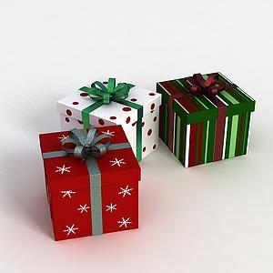 3d<font class='myIsRed'>圣诞</font>礼品盒模型