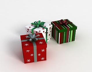 3d圣诞礼品盒模型