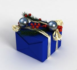 3d<font class='myIsRed'>圣诞</font>礼物盒模型