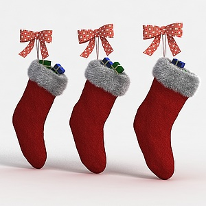 圣诞靴子模型