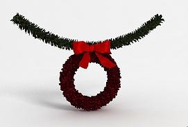 3d<font class='myIsRed'>圣诞</font>装饰花环模型
